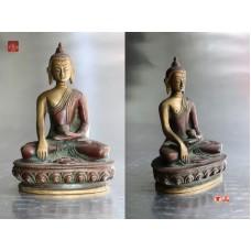 精緻佛像系列釋迦牟尼佛佛像釋尊銅佛像法像莊嚴來源應該是尼泊爾